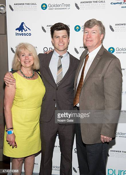 Dr Kerry Kelly Colin Jost and Daniel A Jost attend the 3rd annual New York Police and Fire widows' children's benefit fund kick off to summer benefit...