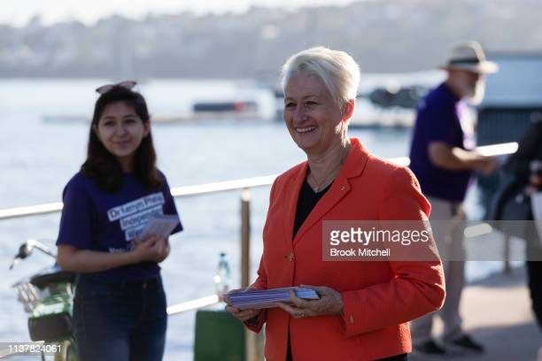 Dr Kerryn Phelps campaigns in Rose Bay on April 18 2019 in Sydney Australia The electorate of Wentworth is Sydney's eastern suburbs and is currently...
