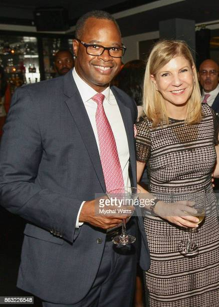 Dr Kevin Holcomb and Honoree Dr Laura Forese attend the 'Kicked it in Heels' Cancer Fundraiser at Beautique on October 18 2017 in New York City