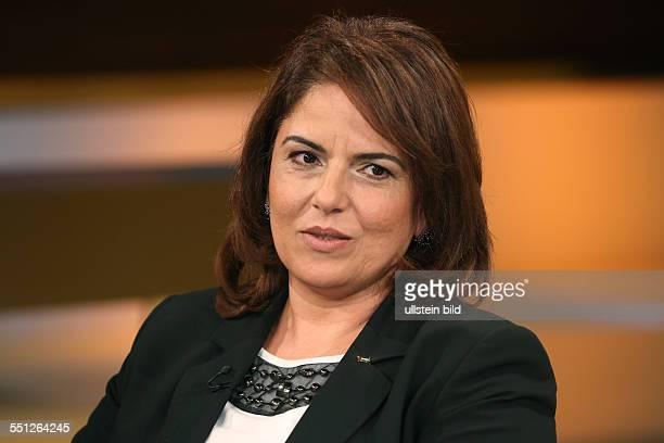 """Dr. Khouloud Daibes in der ARD-Talkshow """"ANNE WILL"""" am in Berlin Thema der Sendung: Blutiger Nahost-Konflikt - Wer wird für die Eskalation..."""