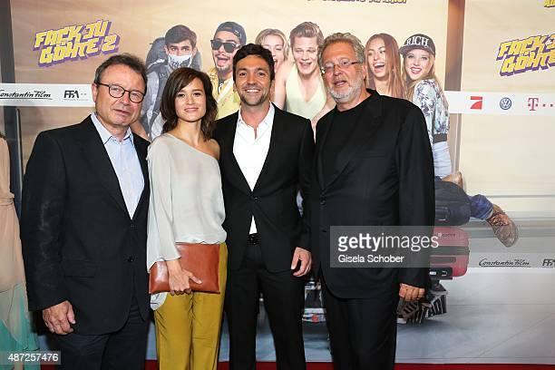 Dr Klaus Schaefer producer Lena Schoemann director Bora Dagtekin Martin Moszkowicz Constantin Film during the world premiere of 'Fack ju Goehte 2' at...