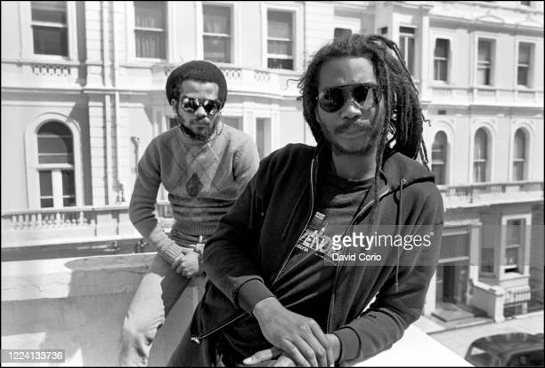 Dr Know and Darryl Jenifer of Bad Brains at Lancaster Gate Hotel, London, 8 May 1987.