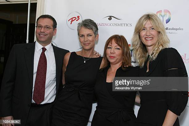 Dr Krieger Jamie Lee Curtis Terri Apanasewicz and Laura Dern enjoy the day at the P3 and Forbeslife executive women's day of beauty for mother's of...