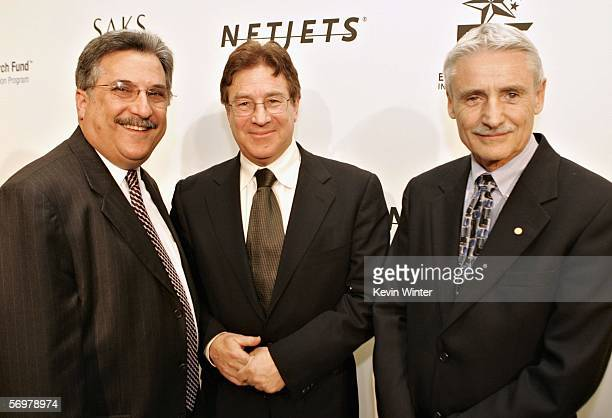 Dr Larry Platt Dr Rich Klausner and Dr Lee Hartwell arrive at EIF's Women's Cancer Research Fund honoring Melissa Etheridge at Saks Fifth Avenue's...