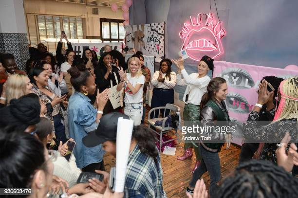 Dr Lauren and Gurls Talk Cofounder and modelactivist Adwoa Aboah speak at the Gurls Talk Festival in collaboration with Coach and Teen Vogue at...