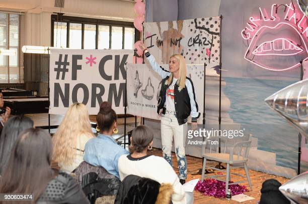 Dr Lauren speaks during the Gurls Talk Festival in collaboration with Coach and Teen Vogue at Industry City on March 11 2018 in New York City