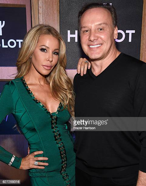 Dr Leonard Hochstein and TV personality Lisa Hochstein attend Hublot Collectors Dinner CoHosted By Philippe Starck at Bianca at Delano on December 2...