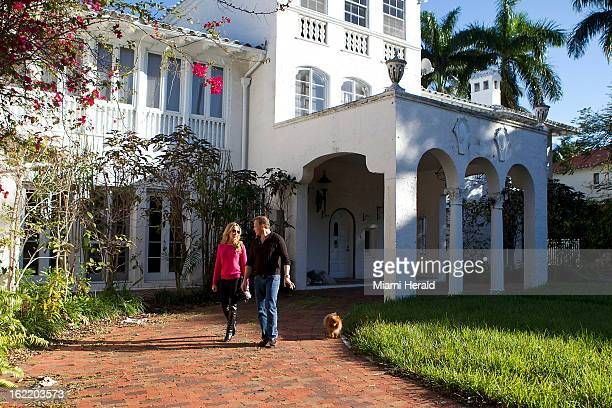 Dr Leonard Hochstein right and his wife Lisa Hochstein of The Real Housewives of Miami bought a mansion on Star Island that is literally falling...