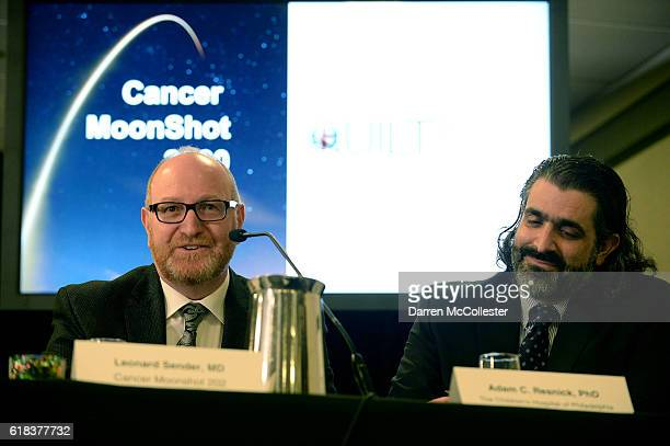 Dr Leonard S Sender Cancer Moonshot 2020 and Adam C Resnick PhD The Children's Hospital of Philadelphia at Hyatt Regency Boston on October 26 2016 in...