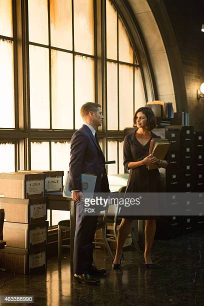 Dr Leslie Thompkins visits Detective James Gordon at the GCPD precinct in the The Scarecrow episode of GOTHAM airing Monday Feb 9 2015 on FOX