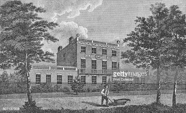 Dr Lettsom's House Camberwell' c1805 A view of Grove Hill Camberwell the residence of the physician and philanthropist John Coakley Lettsom From...