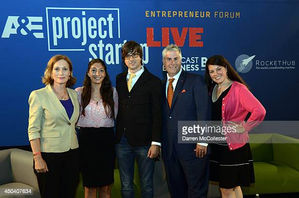 Dr Libby O'Connell Senior VicePresident Corporate Outreach AE Networks Ani Keverian of ZOOS Greek Iced Brian Meece founder and CEO RocketHub Steven...