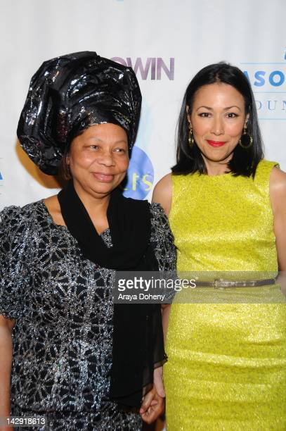 Dr Lilian Asomugha and Ann Curry arrive at the 6th Annual Asomugha Foundation Gala Service Matters at Millennium Biltmore Hotel on April 14 2012 in...