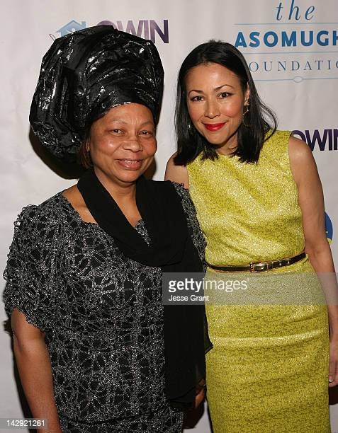 Dr Lilian Asomugha and Ann Curry arrive at the 6th Annual Asomugha Foundation Gala 'Service Matters' Gala held at the Millennium Biltmore Hotel on...