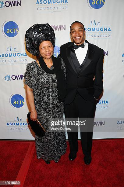 Dr Lilian Asomugha and Jordan Burnham arrive at the 6th Annual Asomugha Foundation Gala Service Matters at Millennium Biltmore Hotel on April 14 2012...