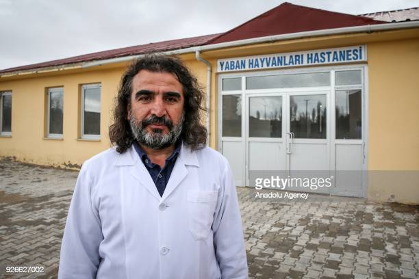 Dr Lokman Aslan who is pioneer of Wildlife Rehabilitation Centre poses for a photo in Turkey's Van province on March 03 2018 Aslan helps wild animals...