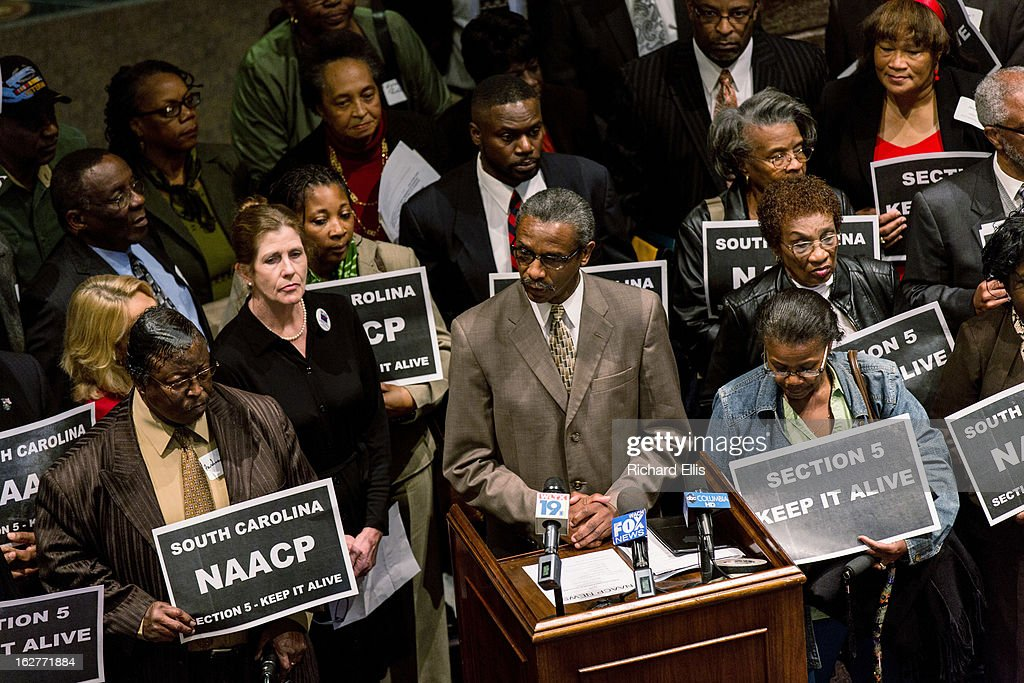Voting Rights Act Supporters Rally In South Carolina : News Photo