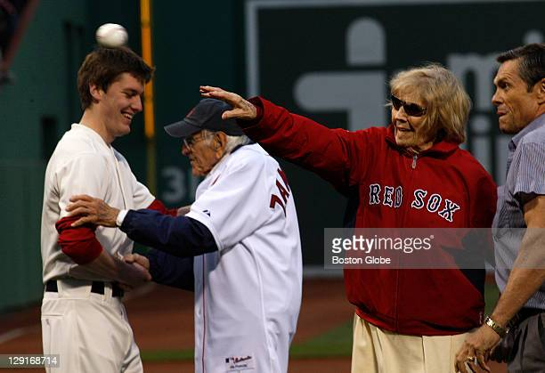 Dr. Louis Zamperini and Julia Ruth Stevens were honored by throwing out the ceremonial first pitches. The Boston Red Sox took on the Chicago Cubs at...