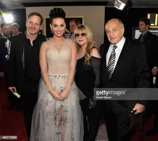 Dr Luke Katy Perry Stevie Nicks and Doug Morris attend the 56th GRAMMY Awards at Staples Center on January 26 2014 in Los Angeles California