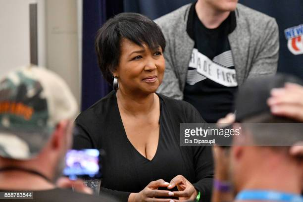 Dr Mae Jemison speaks onstage during the Star Trek Discovery panel during 2017 New York Comic Con Day 3 at Theater at Madison Square Garden on...