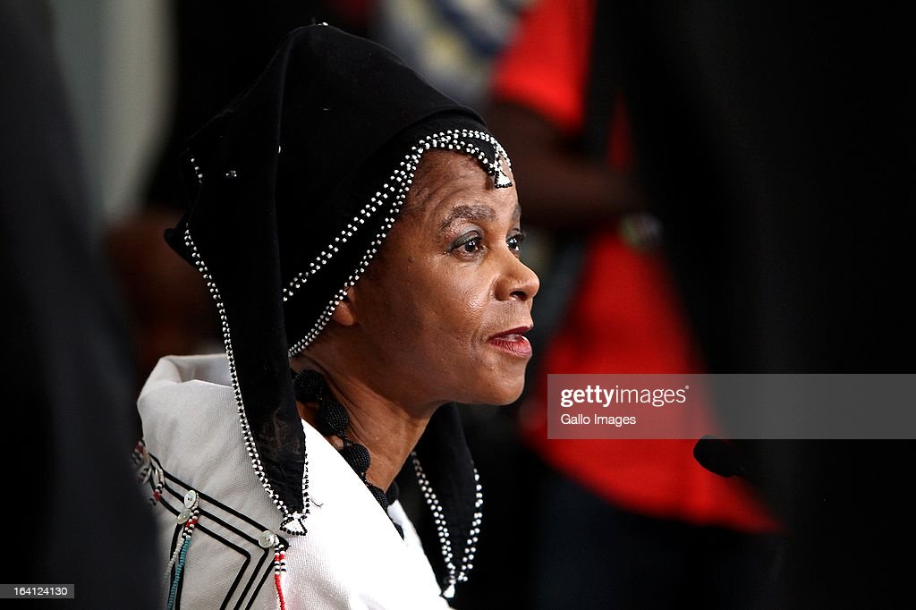 """Dr Mamphela Ramphele at the announcement of her new political party, Agang on February 18, 2013 at Constitution Hill in Johannesburg, South Africa. Ramphele announced yesterday that she is forming a political party to contest in next year's general elections. Agang means """"Build South Africa"""" in Sesotho."""
