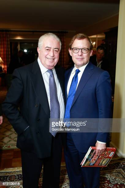 Dr Marc Benhuri and Eric Shawn attend the Paul Dee Dee Sorvino celebrate their new book Pinot Pasta Parties at 200 East 57th Street on April 25 2017...
