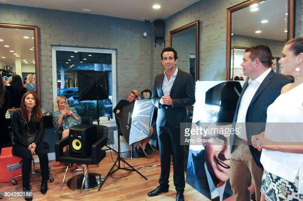 Dr Marc Mani addresses the crowd at A Night Out a fundraising event benefiting #MoveToEndDV hosted by Beverly Hills plastic surgeon Dr Marc Mani at...
