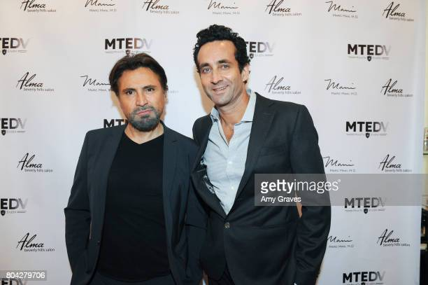 Dr Marc Mani and Alex Casalino attend A Night Out a fundraising event benefiting #MoveToEndDV hosted by Beverly Hills plastic surgeon Dr Marc Mani at...