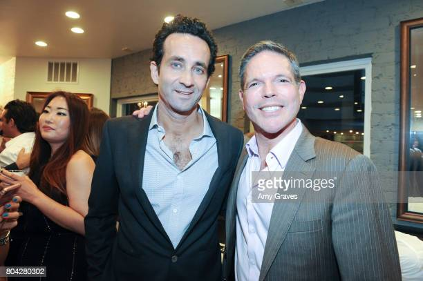 Dr Marc Mani and Michael Libow attend A Night Out a fundraising event benefiting #MoveToEndDV hosted by Beverly Hills plastic surgeon Dr Marc Mani at...