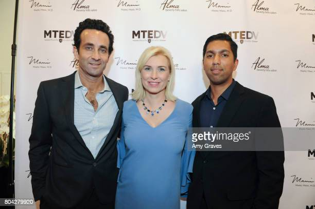 Dr Marc Mani Megan O'Brien and Dr Ehsan Ali attend A Night Out a fundraising event benefiting #MoveToEndDV hosted by Beverly Hills plastic surgeon Dr...