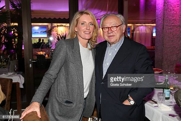 Dr Maria Furtwaengler and her husband Dr Hubert Burda during the 'Gluecklich die Gluecklichen' premiere dinner at H'Ugo's on October 3 2016 in Munich...