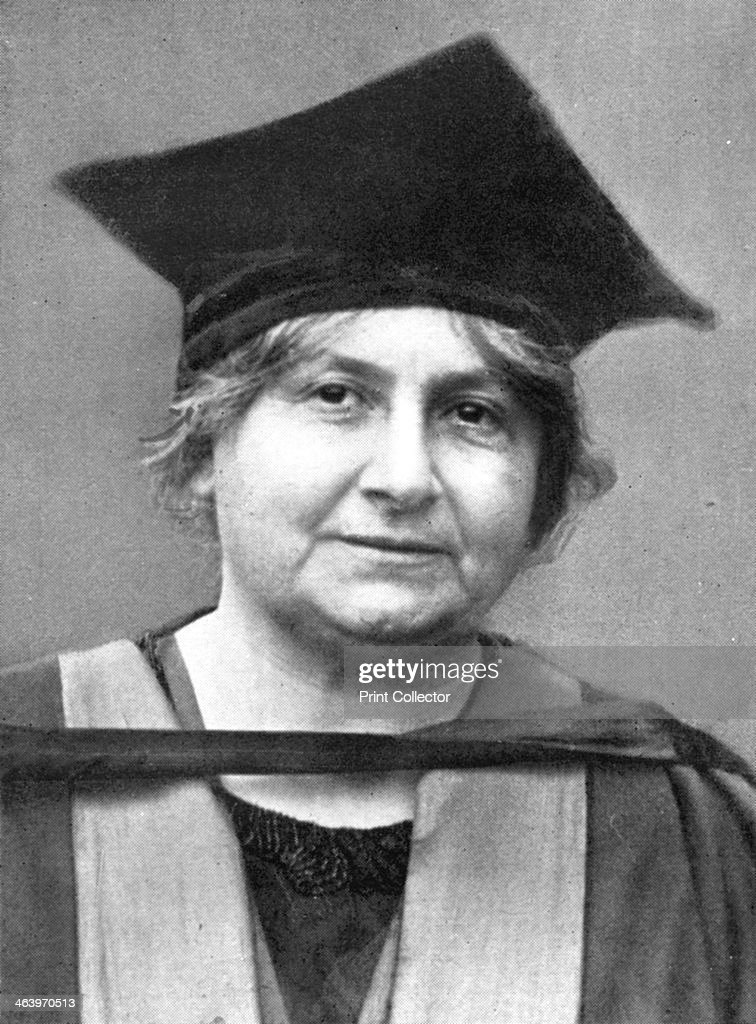 Dr Maria Montessori (1870-1952), Italian philosopher, 1926. : News Photo