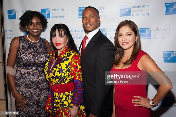 Dr Marilyn Fraser Loreen Arbus Mike Wood and Ines Rosales attend the 22nd Annual Black Tie Sneakers Gala at Grand Hyatt New York on October 19 2016...
