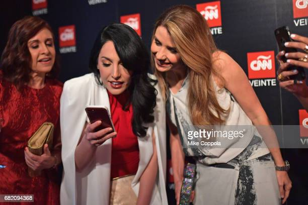 Dr Marisa Azaret Alejandra Oraa and Elizabeth Perez attend the 2017 CNNE Upfront on May 11 2017 in New York City 27008_001