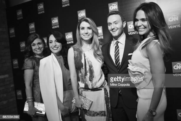 Dr Marisa Azaret Alejandra Oraa Elizabeth Perez Samuel Burke and Mariela Encarnacion attend the 2017 CNNE Upfront on May 11 2017 in New York City...