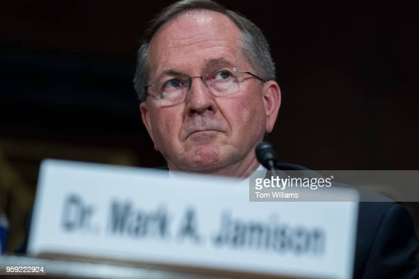 Dr Mark A Jamison testifies during a Senate Judiciary hearing in Dirksen Building titled 'Cambridge Analytica and the Future of Data Privacy'' on May...
