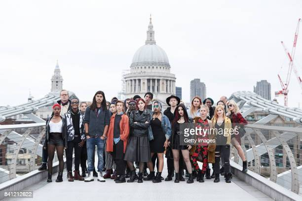 Dr Martens causes disruption on the Millennium Bridge on August 30 2017 in London England