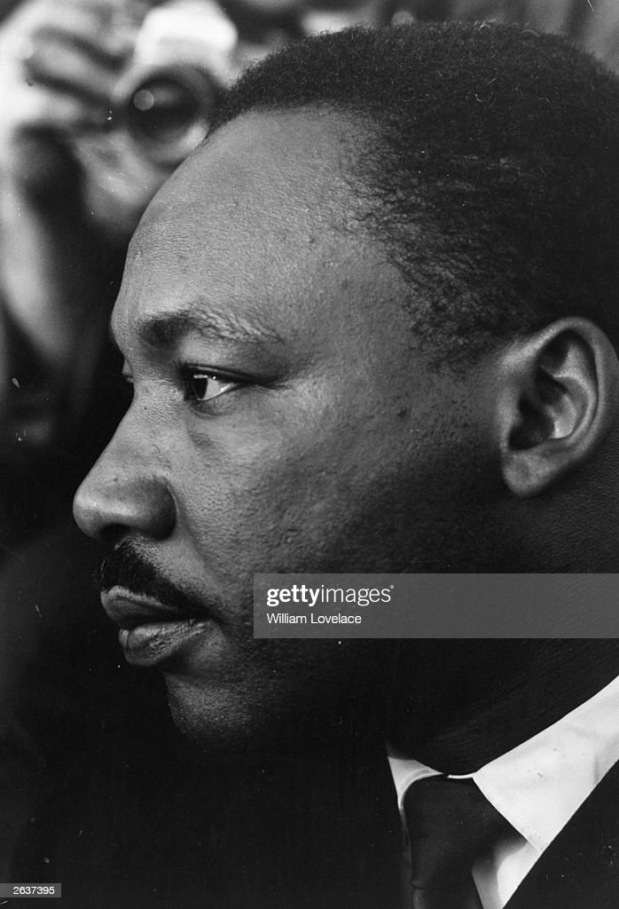 Dr Martin Luther King (1929 - 1968), American clergyman and civil rights campaigner.
