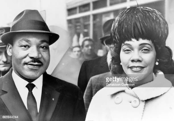 Dr Martin Luther King and his wife Coretta Scott King pose for a portrrait in 1964