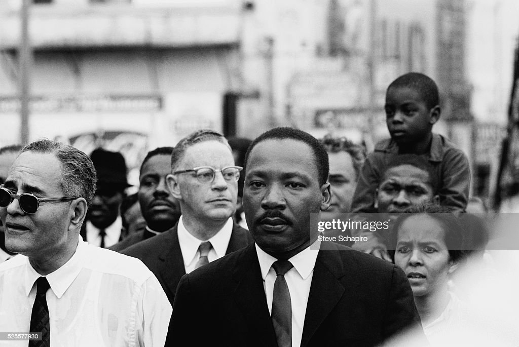 Dr. Martin Luther King, Jr. and Marchers Enter Montgomery : News Photo