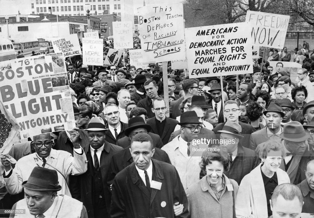 Martin Luther King Jr. March In Boston : News Photo