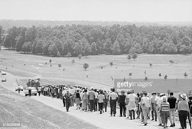 Dr Martin Luther King Jr leads his Mississippi Freedom Marchers into Yalobusha county one of the roughest counties in the state An ambush of James...