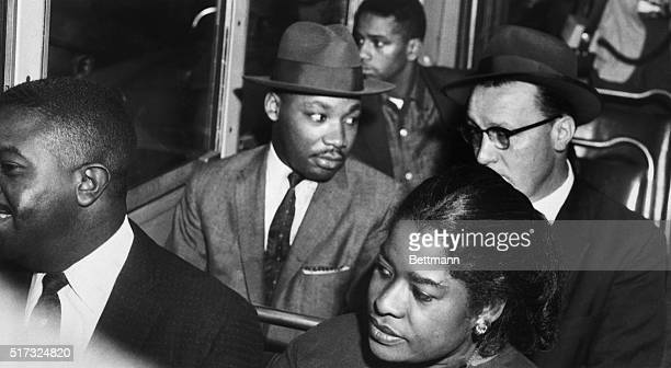 Dr Martin Luther King Jr rides the Montgomery bus with Rev Glenn Smiley of Texas In 1955 black activists formed the Montgomery Improvement...