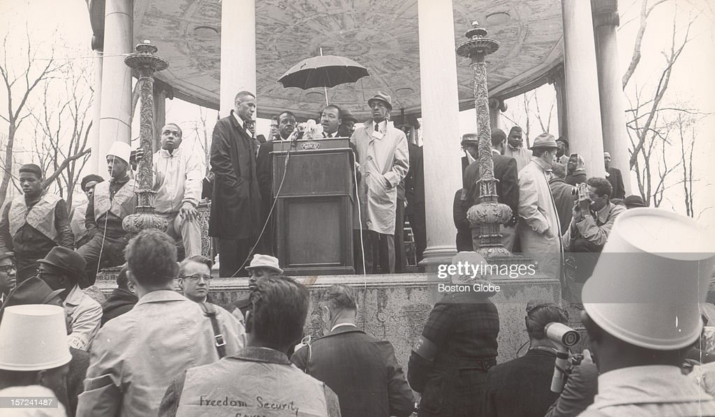 Martin Luther King, Jr. Speaks On Boston Common, 1965 : News Photo