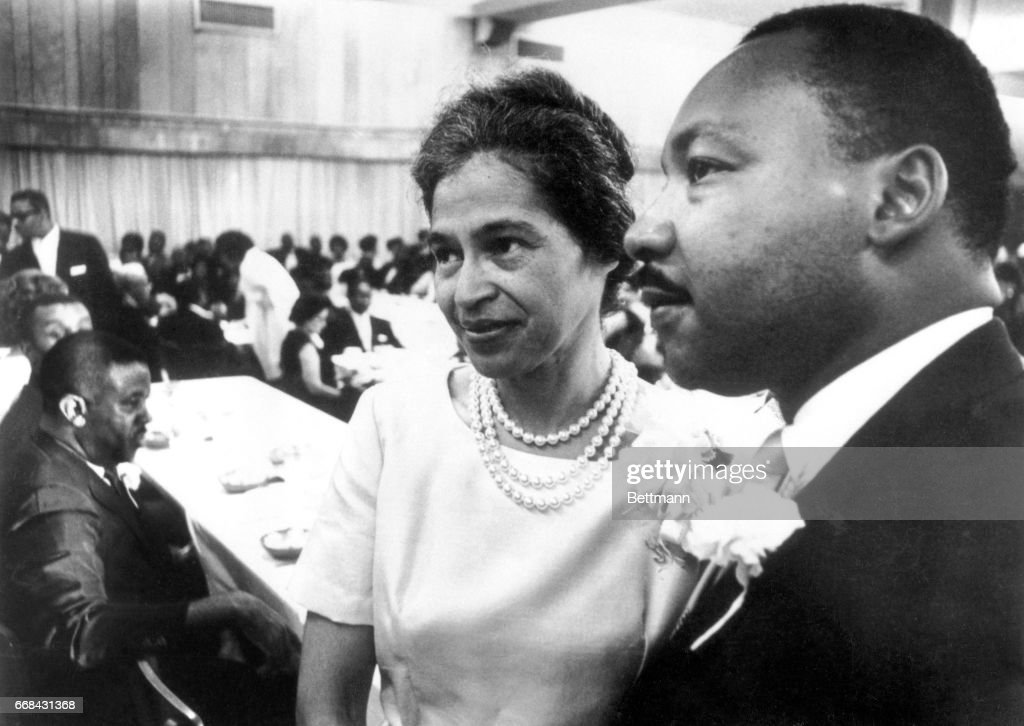 Dr. Martin Luther King and Rosa Parks : News Photo