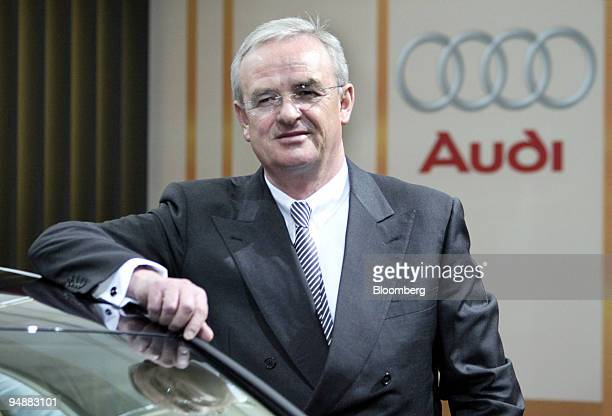 Dr Martin Winterkorn poses prior to the Annual Press Conference in Ingolstadt Germany Wednesday February 25 2004 Audi AG Volkswagen AG's luxury car...