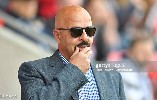 Dr Marwan Koukash chairman of Salford Red Devils before the First Utility Super League Round 17 match between Salford Red Devils and Wigan Warriors...