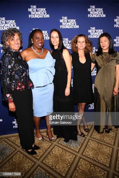 Dr Mary Bassett Tarana Burke Rachel Gould Adrienne Becker and Angie Wang attend The New York Women's Foundation Radical Generosity Gala at The Plaza...
