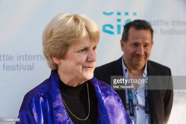 Dr MaryClaire King and Director Steven Bernstein arrive at the Seattle International Film Festival Premiere of Decoding Annie Parker at Egyptian...