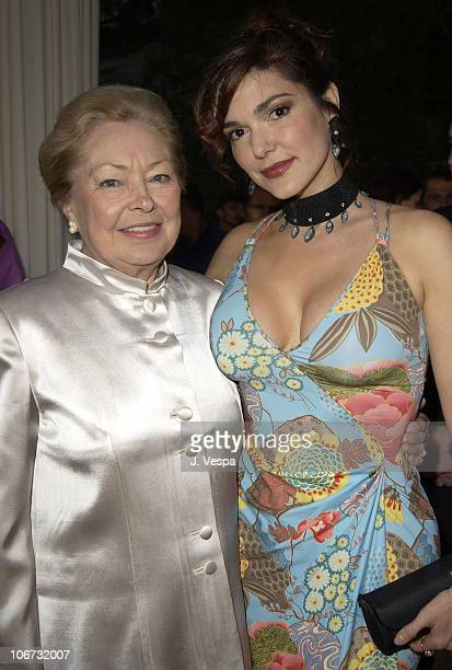 Dr Mathilde Krim and Laura Elena Harring during 2003 Cannes Film Festival Cinema Against Aids 2003 to benefit amfAR sponsored by Miramax Arrivals at...